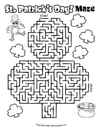 Small Picture St Patricks Day Maze Free Coloring Pages for Kids Printable