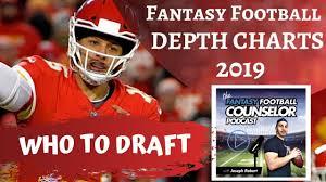 Football Team Depth Charts Fantasy Football 2019 Depth Charts