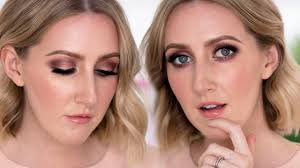 warm rose gold makeup tutorial bare minerals bare sensuals palette