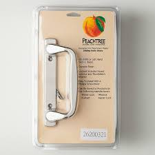 peachtree sliding patio door prado handle set bright chrome