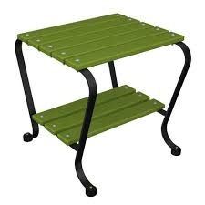 black and lime patio side table