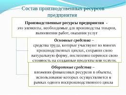 Трудовые ресурсы предприятия Ресурсы предприятия курсовая введение