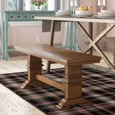Dining room table bench Farmhouse Style Quickview Wayfair Kitchen Dining Benches Youll Love Wayfair