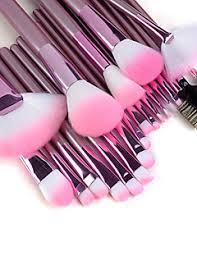 22pcs makeup brushes set professional pink handle powder concealer blush brush shadow eyeliner lip brow lashes brush high quality makeup kit