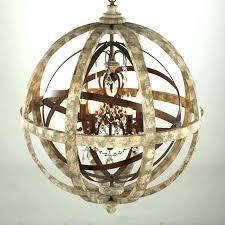 rustic sphere chandelier wood globe chandelier rustic black iron outdoor chandelier