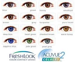 Acuvue Contact Colors Chart How To Choose Coloured Contact Lenses Eye Contact Lenses