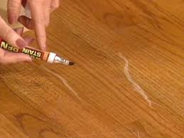 use touchup stick on floors to conceal scratches