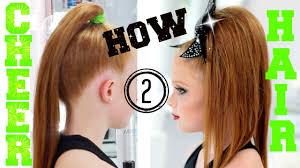 how to cheer hair allstar cheerleading tutorial