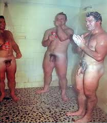 Naked gay rugby shower