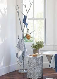Furniture: DIY Branch Coat Rack In Bathroom - DIY Coat Rack