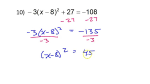 day 7 hw solving quadratic equations using radicals square roots