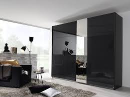 rauch miramar 2 door glass 1 mirror sliding wardrobe in graphite w 225cm