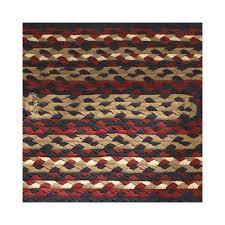 country park designs black cotton braided area rug red cream com
