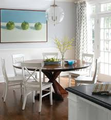 Modern Expandable Round Dining Table Expandable Round Dining Table White Modern Ceiling Lamp Wood And