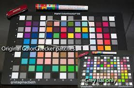 Gretagmacbeth Colorchecker Chart Digital Camera Profiling With Sg Colorchecker Card