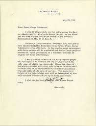 jfk letter welcomes peace corps volunteers manuscript  jfk letter welcomes peace corps volunteers manuscript foundation