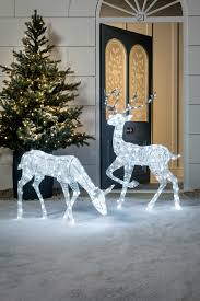 Reindeer Christmas Lights Outdoor Glitter Reindeer Christmas Figure Xmas Ideas Christmas