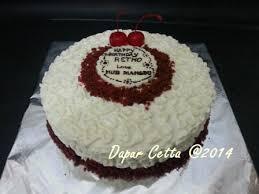 Pesanan Cake Ulang Tahun Red Velvet Dapur Cetta