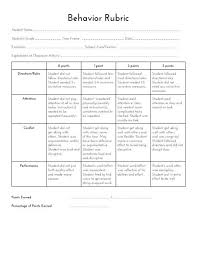 Sped Head Behavior Rubric Things For Teaching School