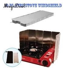 MagiDeal <b>10 Plates Folding Camping</b> Cooker Gas Stove Wind ...