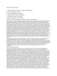 project management essay docx project management goal
