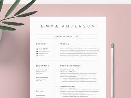Clean Resume Template Word New Ms Cv Template Modern Clean Resume