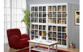 bookcases wall bookcase with glass door doors and drawers white wooden book cabinet sliding rectangle table