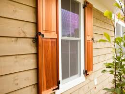 accessories exterior outdoor spaces shutters window treatments red cedar cabin shutters