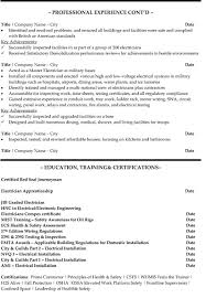 Sample Of Electrician Resumes Senior Electrician Resume Sample Template