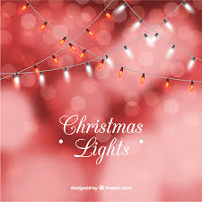 pink christmas lights background. Red Christmas Lights Background In Bokeh Style Free Vector Inside Pink