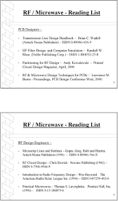 Rf Circuit Design Bowick Rf Microwave Pc Board Design And Layout Pdf Free Download