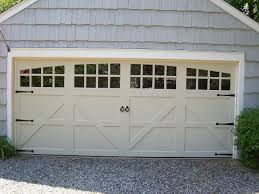 double carriage garage doors. Simple Doors Double Garage Door That Looks Like Two Doors  Option Off  White Rounded Windows With Grills Farmhouse  Inside Double Carriage Garage Doors