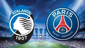 Atalanta icon in italian football club. Champions League Quarter Final Fixtures Atalanta Paris Saint Germain Paris Saint
