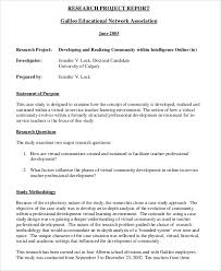 Sample Research Project Report 9 Examples In Pdf Word