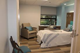 an room at the new enant care inpatient hoe center at sacred heart