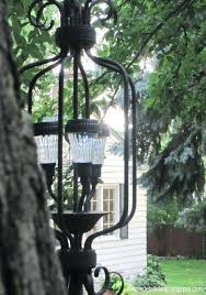 outdoor solar chandelier outdoor solar chandelier can we modify to use as lamp posts