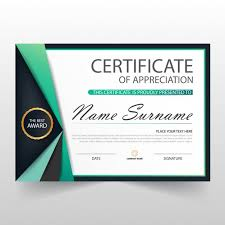 Certificate Of Appreciation Templates Free Download Elegant Certificate Of Appreciation Template Vector Free Download