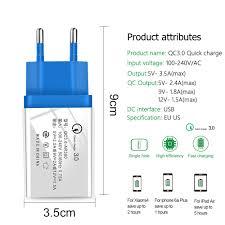 USB Phone Charger <b>Quick Charge</b> 3.0 2.0 <b>EU</b>/<b>US</b> Plug <b>Travel</b> Wall ...