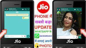🔥Jio phone WhatsApp ke background Mai ...