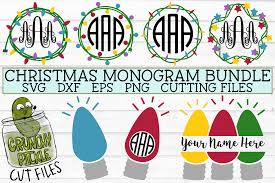 Think personalised monograms for christmas, births, mother's day, father's day, weddings, birthdays + loads more.stmas, births, mother's day, father's day Christmas Lights Monogram Frame Svg Bundle Crunchy Pickle Svg Cut Files