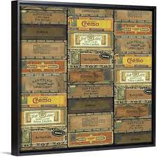 Inside is line with pink decorative paper and paper ephemera. Amazon Com Cigar Boxes Black Float Frame Canvas Art Artwork Posters Prints