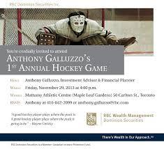 ANTHONY GALLUZZO'S 1ST ANNUAL HOCKEY GAME