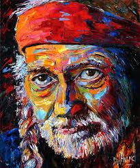 oil painting portrait art painting of willie nelson by debra hurd