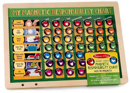 my responsibility chart magnetic responsibility chart