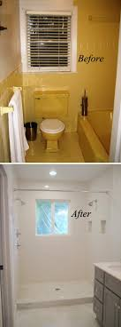 Image Nice From Yellow To White Bathroom Renovation Hative Before And After 20 Awesome Bathroom Makeovers Hative