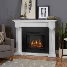 Real Flame Verona 48 in. Electric Fireplace in White-5420E-W - The ...