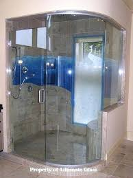 curved glass shower doors flat glass wall mounted door and return panel with curved glass center