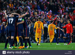 Atletico Madrid team group (Atletico), Neymar, Lionel Messi Stock Photo -  Alamy