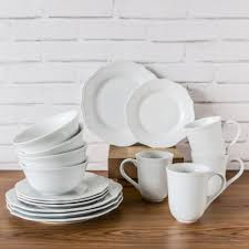 better homes and gardens piece scalloped porcelain dinnerware