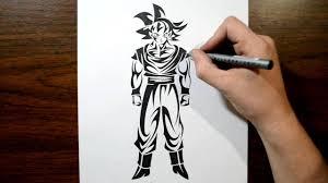 Goku Design Drawing Goku Dragon Ball Tribal Tattoo Design Style